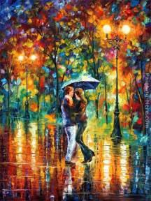 Bestpaint by Leonid Afremov Rainy Dance Painting Best Paintings For Sale