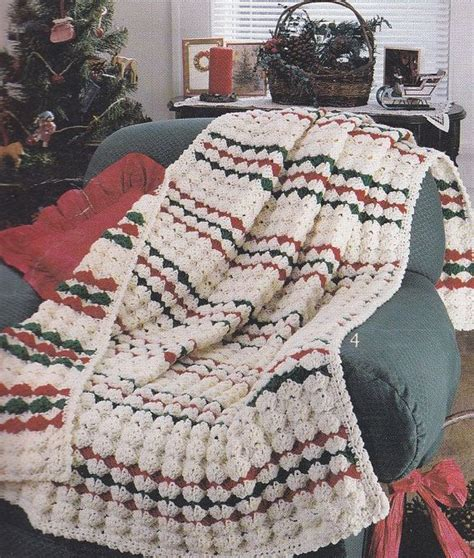 pattern christmas afghan christmas afghan crochet patterns 4 designs red white