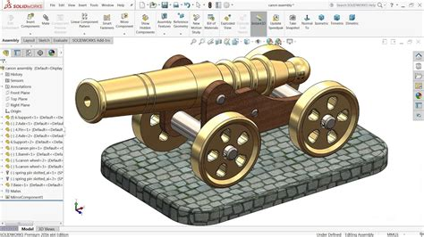 solidworks tutorial toy car solidworks tutorial toy cannon in solidworks youtube