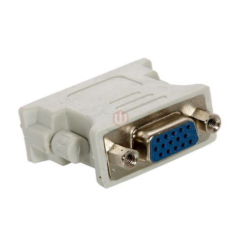 Tool Komponen Dvi 24 1 Pin To Vga 15pin Adapter 1 x 24 1 dvi pin to vga convertor adapter dvi d for pc hdtv ca ebay