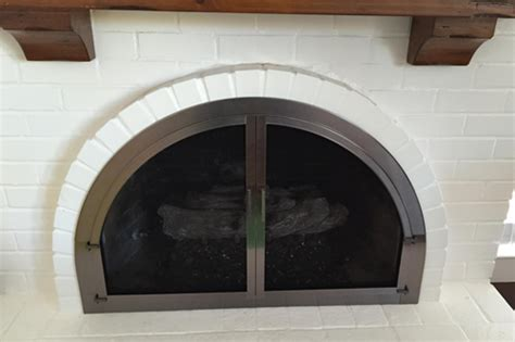 David Fireplace Doors by Cascade Arched Fireplace Door