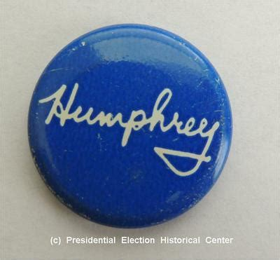 Humphrey White humphrey blue with white letters caign button