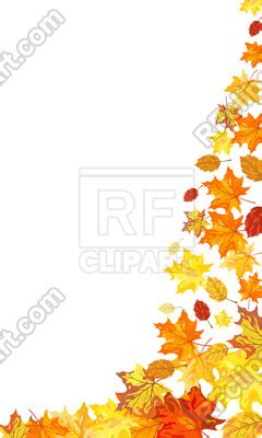 decorative corner   autumn leaves  maple vector