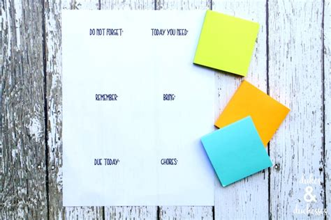 Post It Notes Template Diy Secret How To Print On Post It Notes And Free Printable Text Editable Post It Note Template