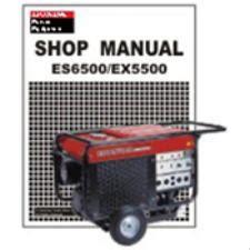 Honda Es6500 Honda Es6500 Ex5500 Generator Shop Manual