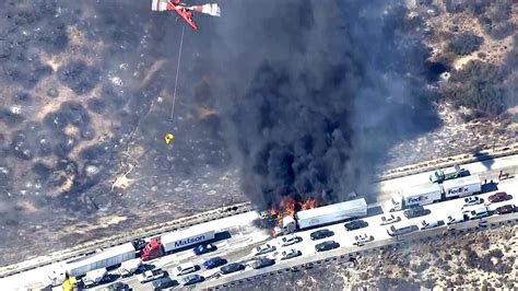 The On Socal Fires by Cars Catch After California Wildfire Jumps Freeway