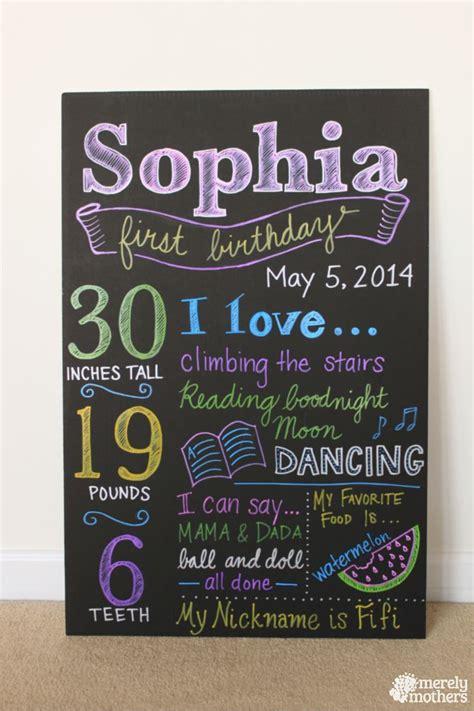 diy chalkboard birthday diy birthday chalkboard merelymothers step by