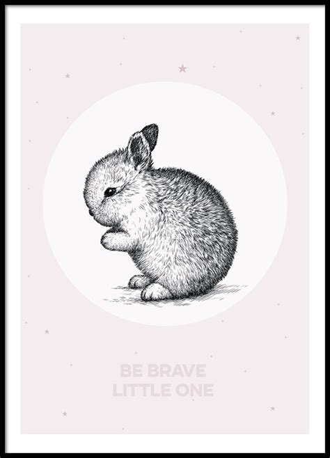 Poster One 1 30x40cm poster med text be brave one fr 229 n desenio