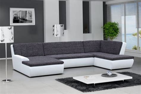 canapé blanc et gris canap 195 169 gris et blanc