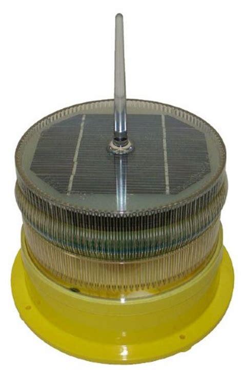 marine solar lights solar led marine light hazard marker light yellow 2 3nm