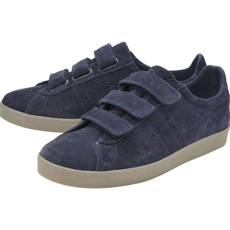 mens velcro sneakers gola s tourist suede velcro sneakers in navy sportique
