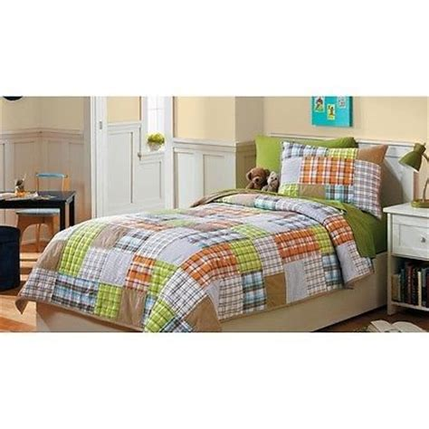 plaid twin bedding new circo patches n plaid collection twin quilt sham