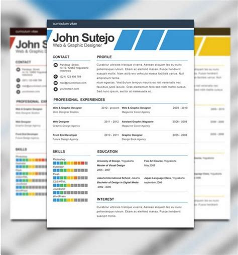 photoshop resume templates download 35 free creative