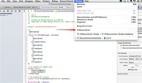 html xcode tutorial documenting in xcode with headerdoc tutorial