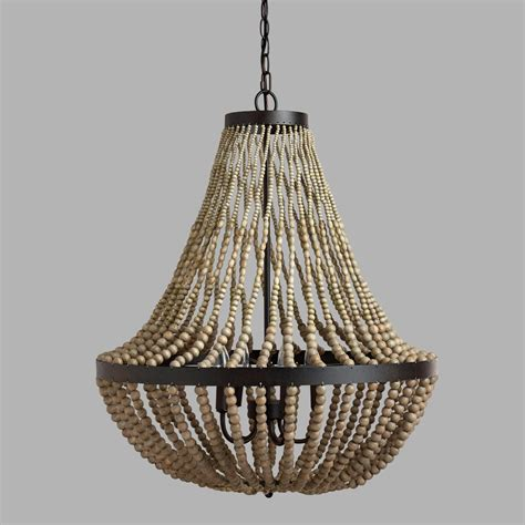 Wood Bead Chandelier Large Wood Bead Chandelier World Market The Knownledge