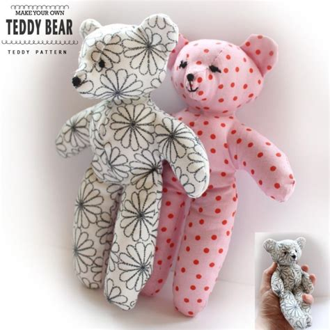 make your own teddy template teddy sewing pattern easy craft template make