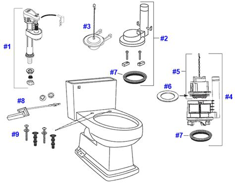 Toto Plumbing Parts by Toto Lloyd Toilet Replacement Parts