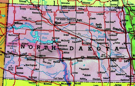nd road map map of dakota state with highways dakota map with highways vidiani maps of
