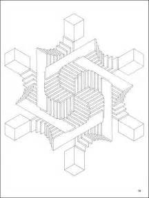 optical illusion coloring pages free coloring pages of 3d for adults