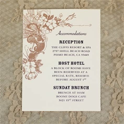 wedding information card template free reception card template vintage carnival flourish design