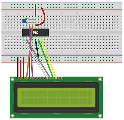 how to build an lcd circuit with a pic18f1220