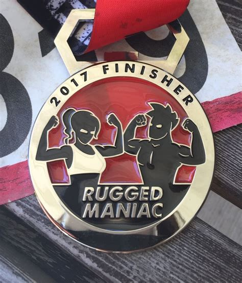 rugged maniac medal 80 best running medals earned images on running medals lists and challenges