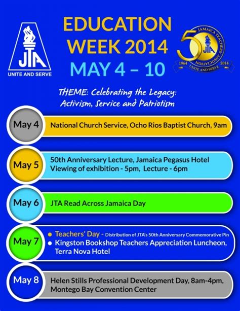 theme for education week 2015 jamaica education week highlights jamaica teachers association