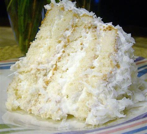 super easy coconut cake recipe easy coconut refrigerator cake recipe pinterest