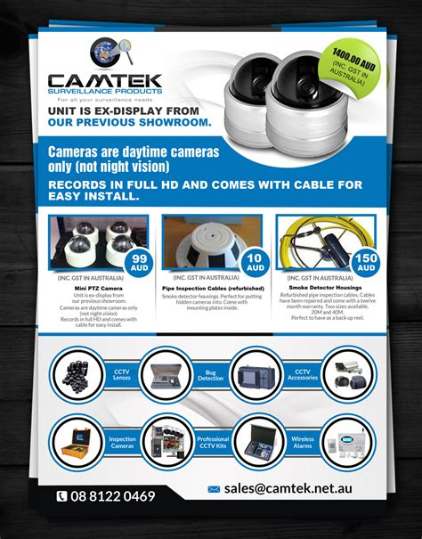 leaflet design for cctv flyer design for robert by esolz technologies design