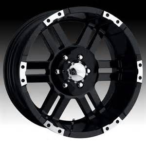 Ultra Black Truck Wheels Ultra 247b 247 248b 248 Thunder Black W Machined Custom