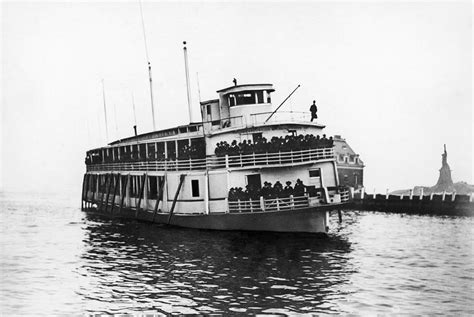 ferry ellis island ellis island ferry c1920 photograph by granger