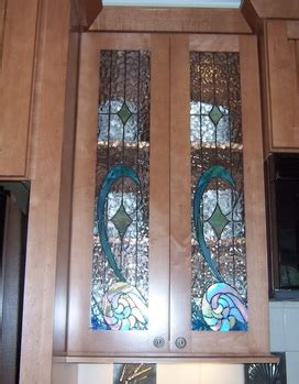 Custom Stained Glass Cabinet Doors Stained Glass Cabinet Door Patterns