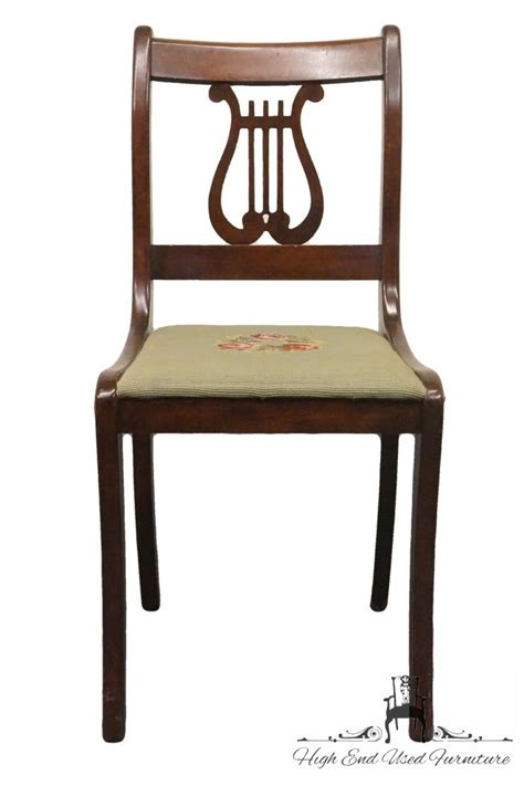 Ebay End Tables Charlotte Chair Duncan Phyfe Mahogany Harp Lyre Back