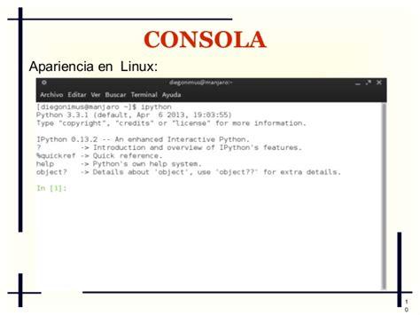 tutorial python en linux tutorial de ipython