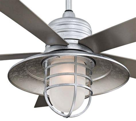galvanized outdoor ceiling fan minka aire 54 inch galvanized rainman ceiling fan
