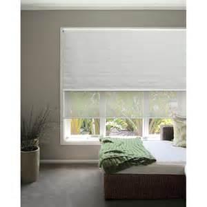 White And Gray Roman Shades - windoware 60 x 210cm day night white roller blind bunnings warehouse