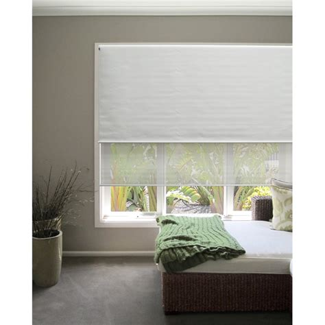 Dual Day And Roller Blinds windoware 60 x 210cm day white roller blind