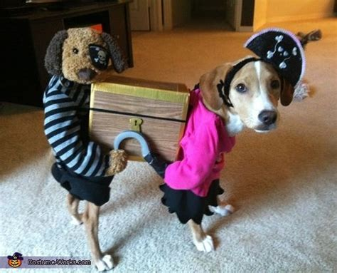 diy puppy costume carrying a treasure chest costume creative and costumes