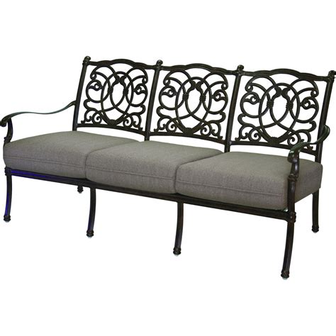 darlee patio furniture darlee florence 4 cast aluminum patio conversation seating set mocha ultimate patio
