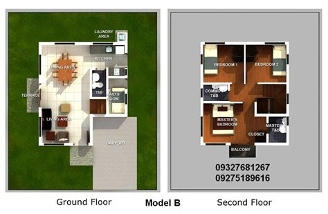 single detached house floor plan asian leaf