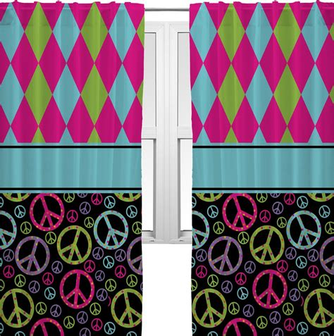 peace sign window curtains harlequin peace signs curtains 20 quot x54 quot panels
