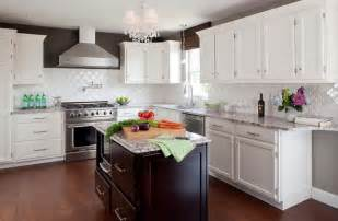 White Backsplash Tile For Kitchen by Tile Kitchen Backsplash Ideas With White Cabinets Home