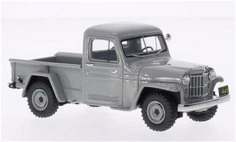 Miniatur Jeep Wrangler Unlimited Skala 64 jeep willys up gray 1954 neo diecast model car 1 43