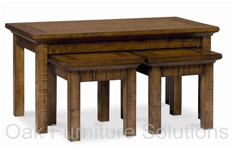 coffee nest tables toledo light coffee nest of tables oak furniture solutions