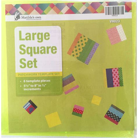 Square Patchwork Templates - matilda s own squares set large matilda s own large