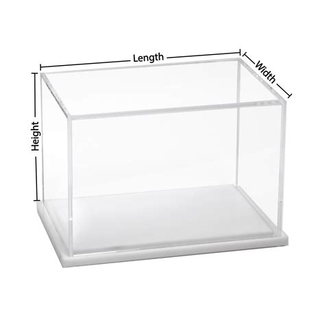 Acrylic Box custom size acrylic display box with white base buy