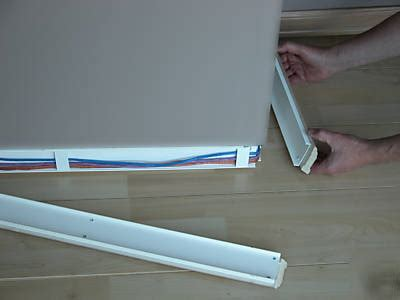 baseboard with wire channel wiretracks nc wire raceway channels 80