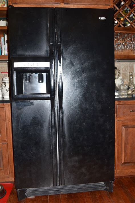 southern accents refrigerator  black