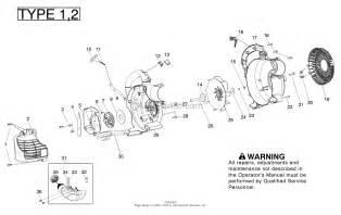 poulan ppb430vs gas blower type 1 parts diagram for housing type 1 2