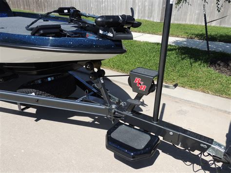 bass boat trailer step and pole boat trailer tongue ladder pictures to pin on pinterest